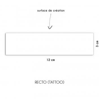 Tatouage personnalisé argenté bracelet