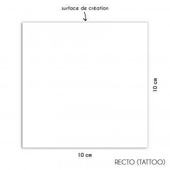Tatouage personnalisé argenté 10x10cm