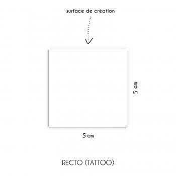 Tatouage personnalisé argenté 5x5cm