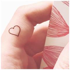 Tattoo personnalisé coeur