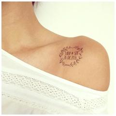 tattoo mariage noir